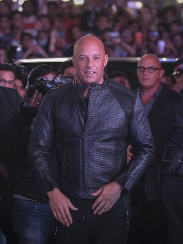 Vin Diesel Fate Of The Furious Black Jacket