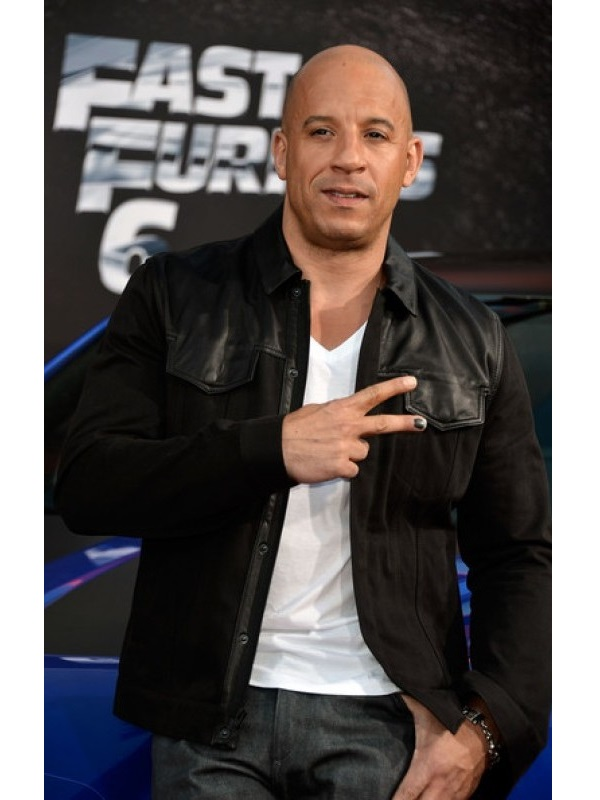 Vin Diesel Movie Fast and Furious 6 Leather Jacket