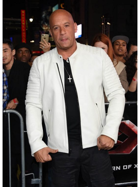 Vin Diesel Movie XXX Return of Xander Cage Premiere Leather Jacket