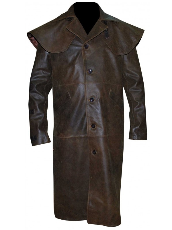 Ron Perlman Leather Coat