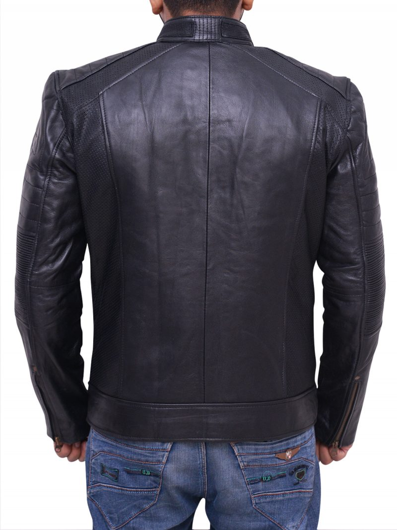 Cafe Racer Black Biker Jacket