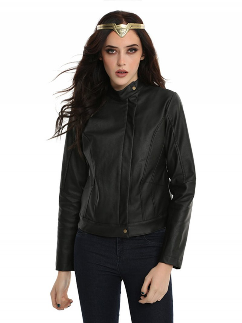 Gal Gadot Movie Wonder Woman Diana Prince Leather Jacket