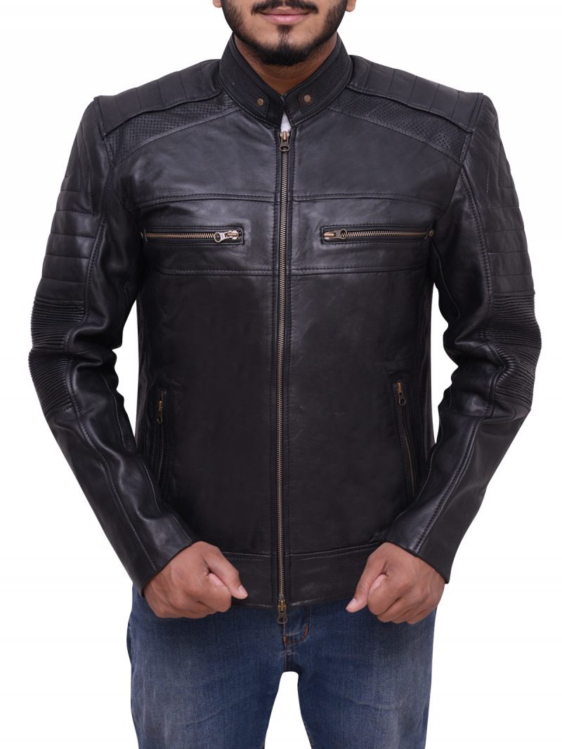 Men Cafe Racer Jacket