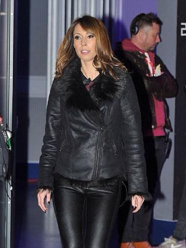 Alex Jones Stylish Leather Fur Jacket
