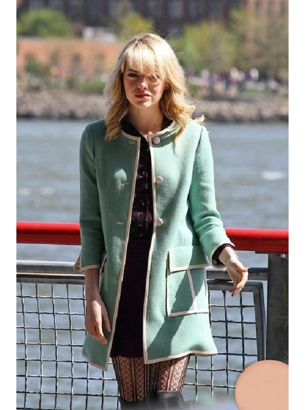 Amazing Spiderman 2 Gwen Stacy Green Coat