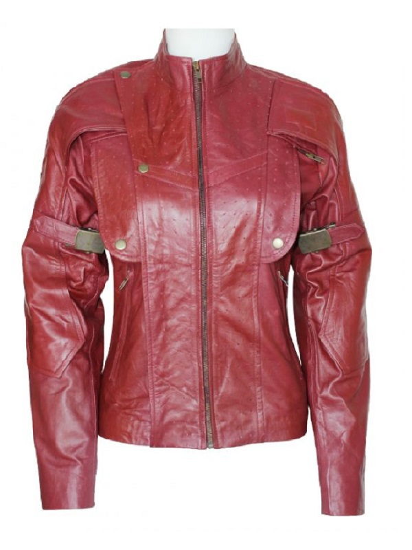 Guardians Of The Galaxy Women Maroon Jacket