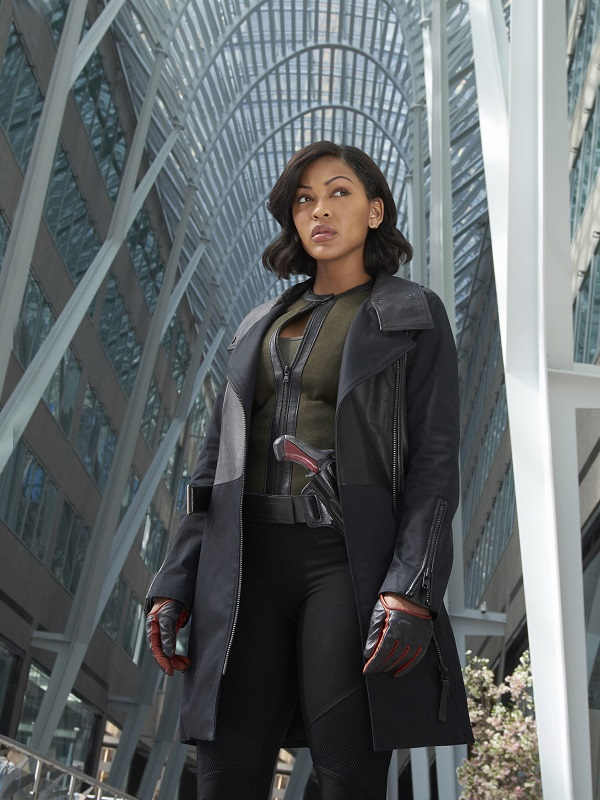 Meagan Good Minority Report Dash TV Series Leather Coat