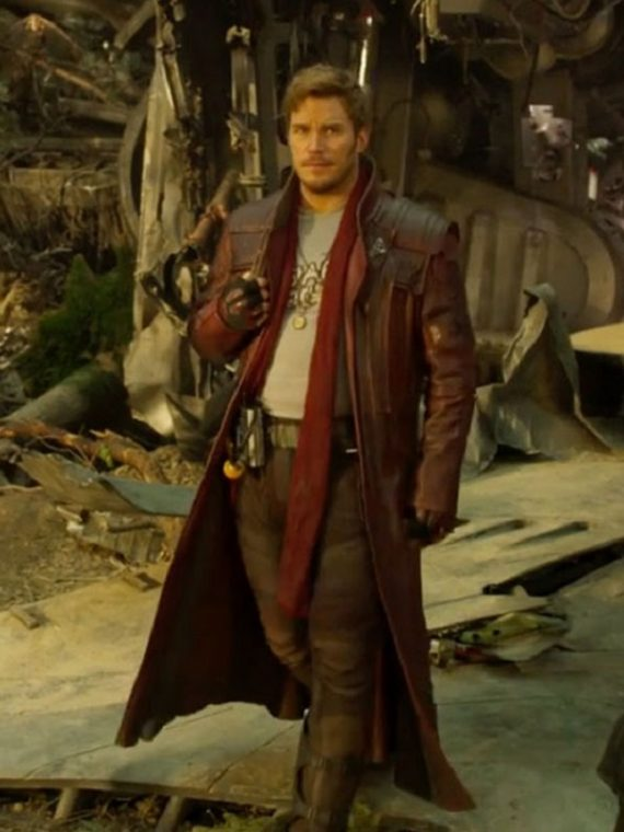 Chris Pratt Star Load Leather Coat