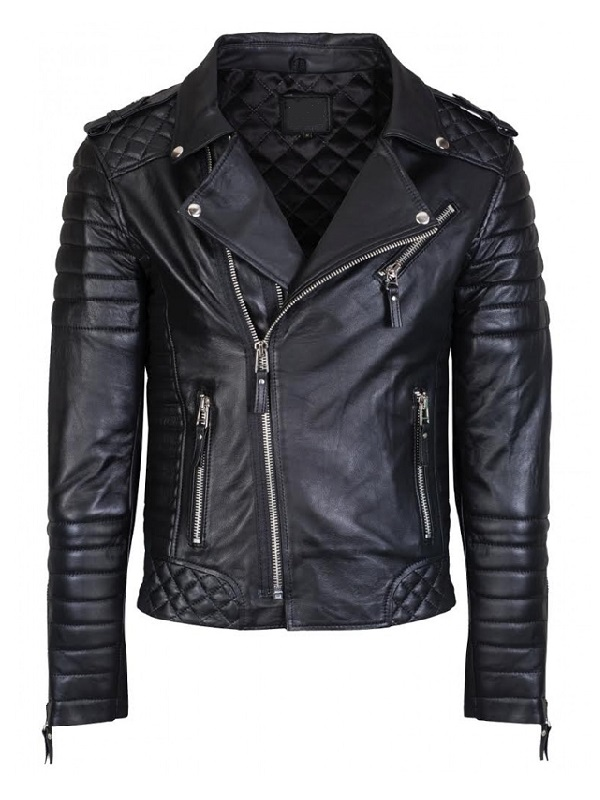 Men Stylish Moto Quilted Biker Jacket