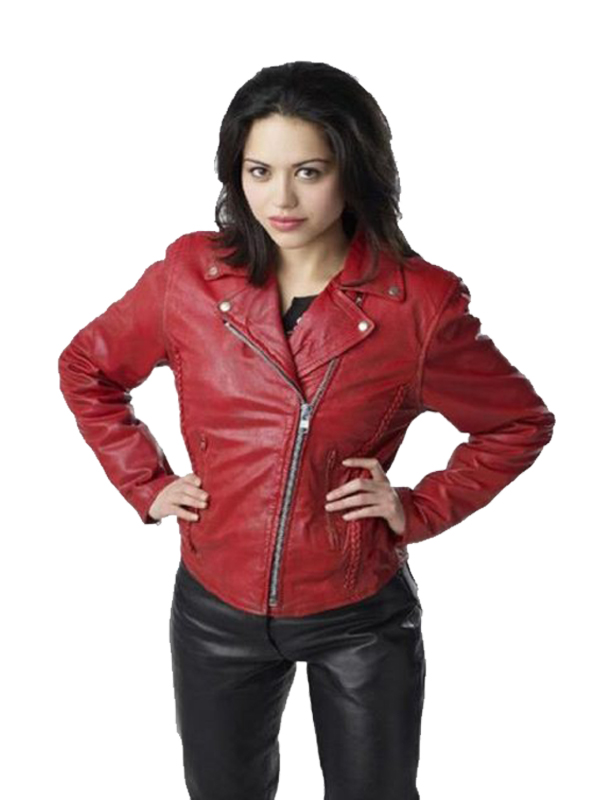 Alyssa Diaz Ben 10 Alien Swarm Leather Jacket