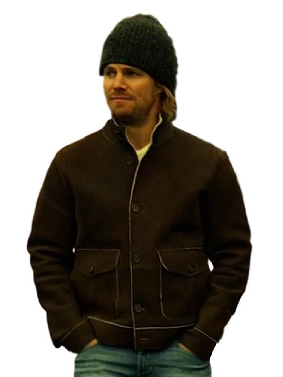 Arrow Stephen Amell Brown Jacket