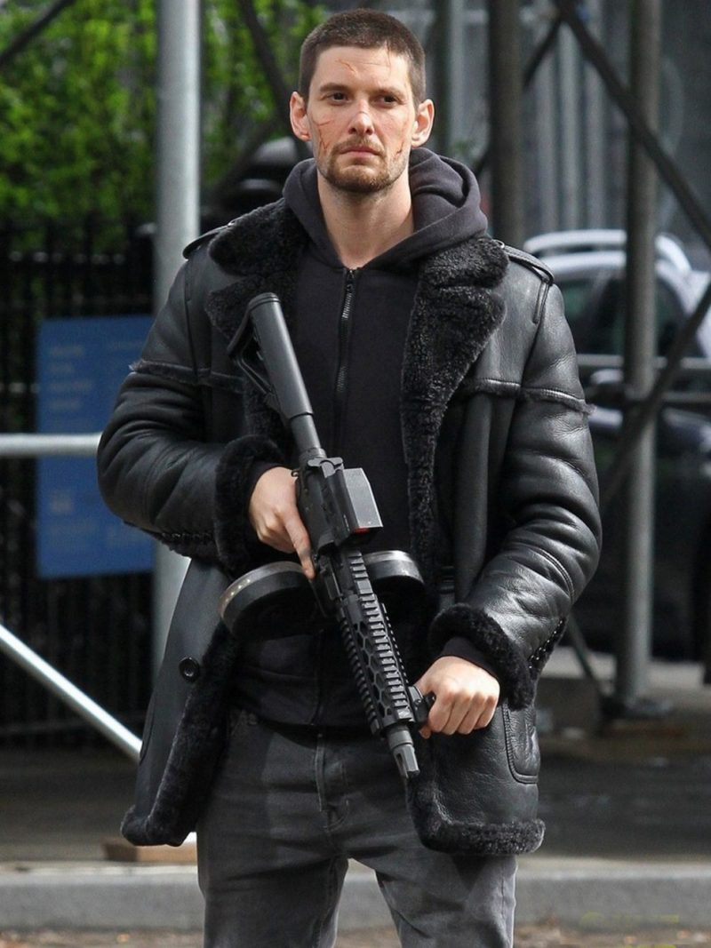Ben Barnes The Punisher Leather Coat,