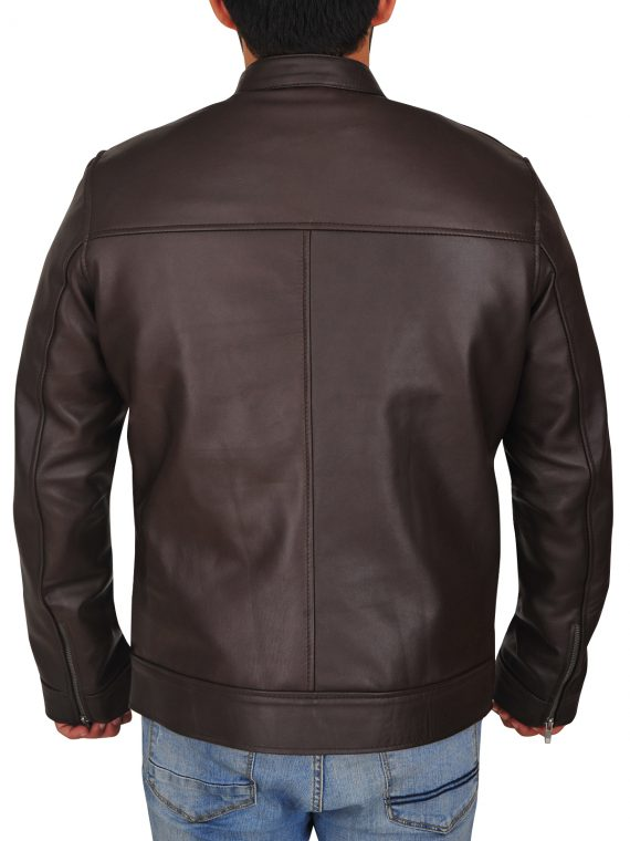 Chicago PD Hank Voight Leather Brown Jacket,