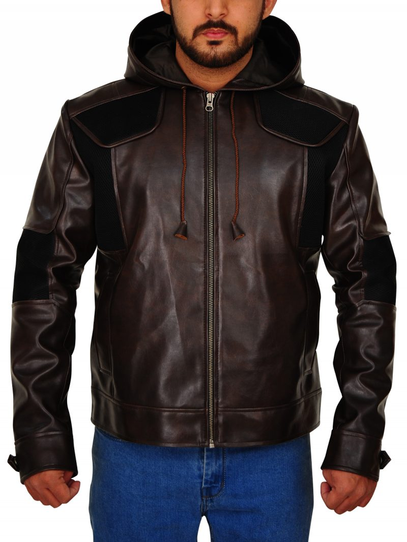 Detroit Become Human Gavin Reed Brown Leather Jacket,