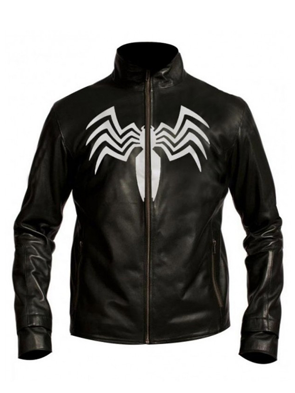 Eddie Brock Spiderman Venom Black Jacket
