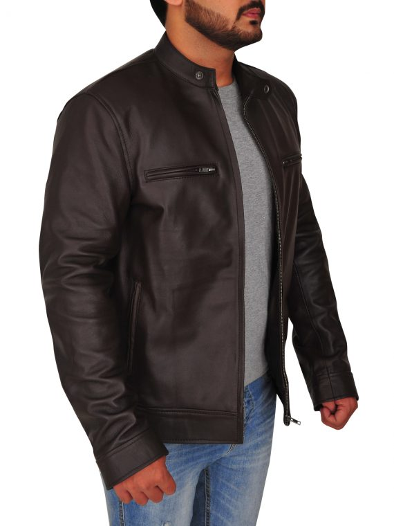 Jason Beghe Chicago Brown Leather Jacket,