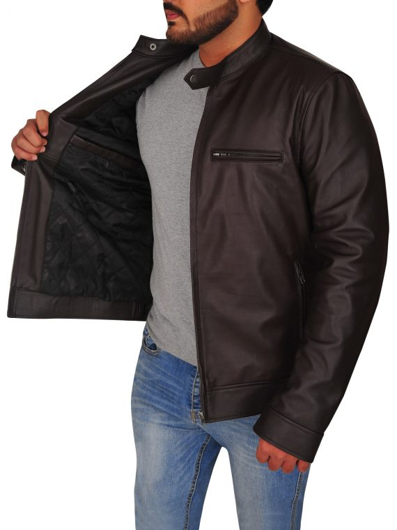 Jason Beghe Chicago PD Brown Leather Jacket,