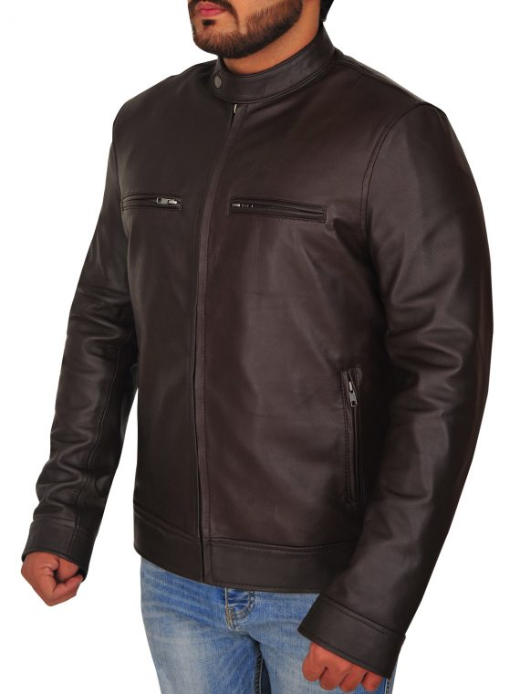 Jason Chicago PD Brown Leather Jacket,