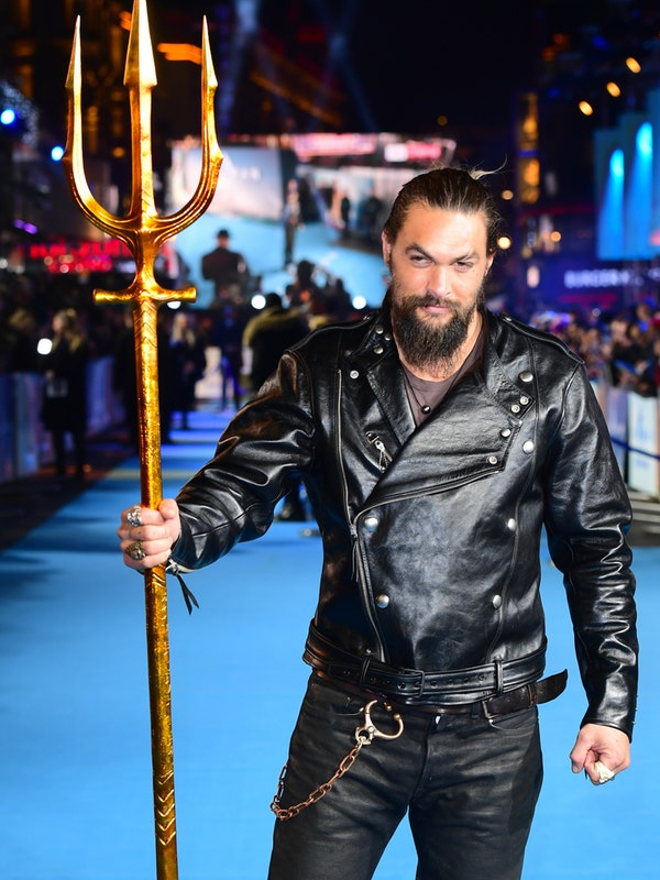 Jason Momoa Black Leather Jacket,