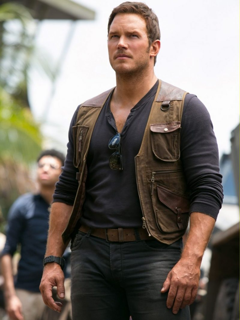Jurassic World Chris Pratt Leather Vest,
