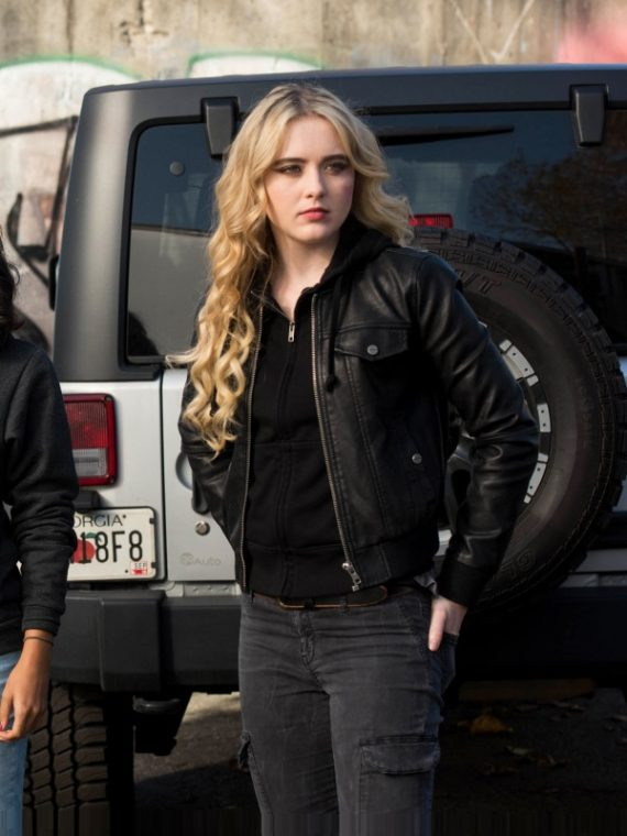 Kathryn Newton in Supernatural Leather Jacket