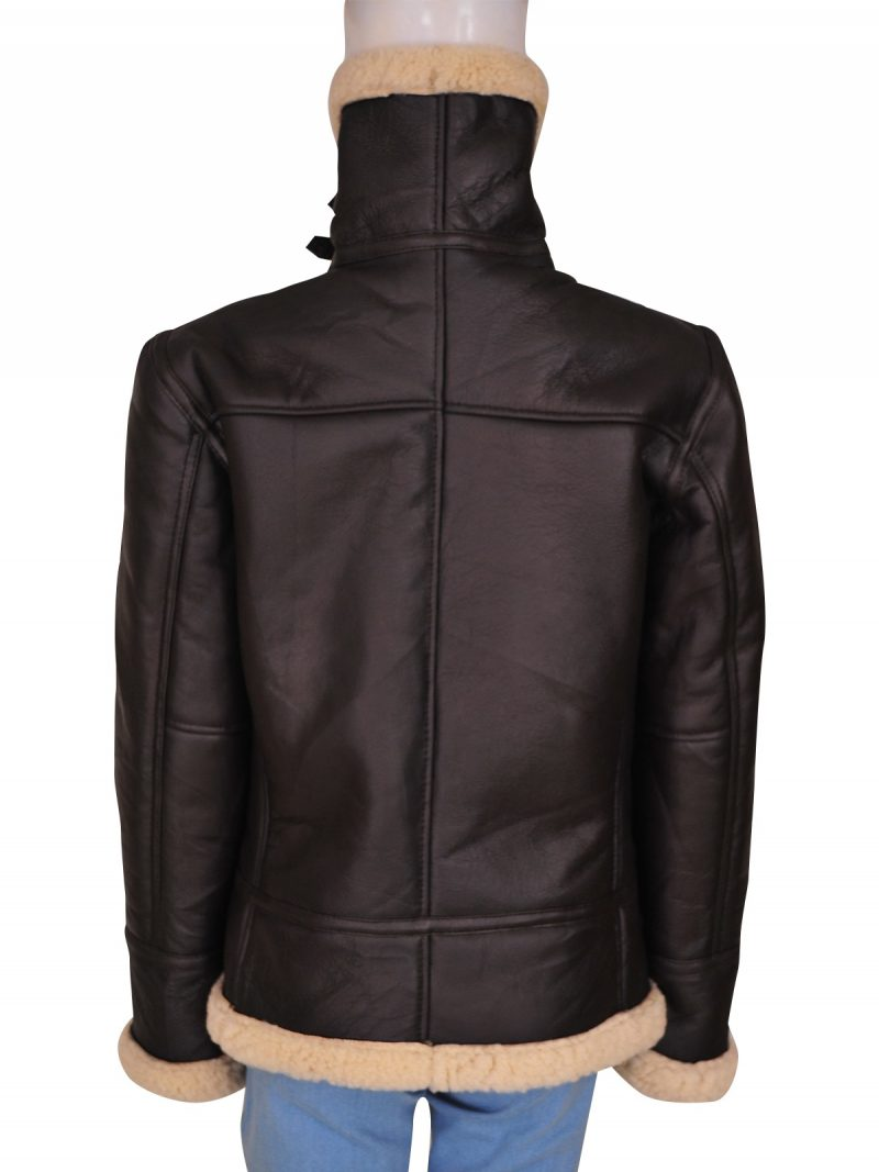Ladies B3 Bomber Aviator Shearling Leather Jacket,
