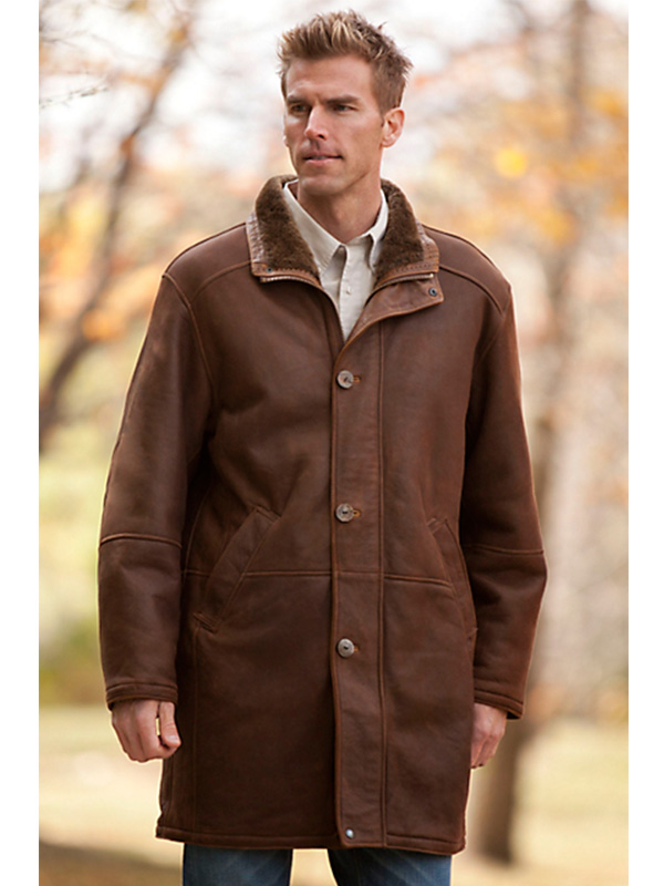 Men Brown Coat
