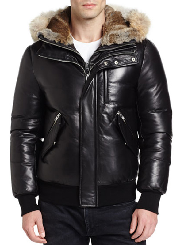 Men Stylish Hooded Fur Jacket