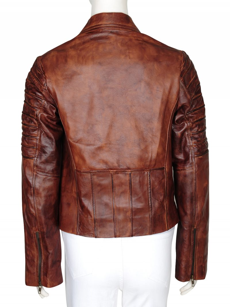 New Woman Slim Fit Genuine Leather Jacket
