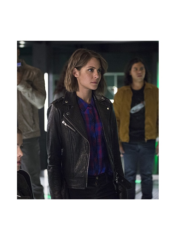 Willa Holland The Flash Speedy leather Jacket
