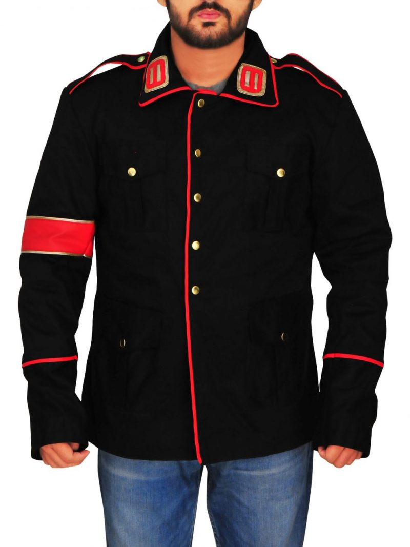 Michael Jackson Black Military Cotton Jacket,