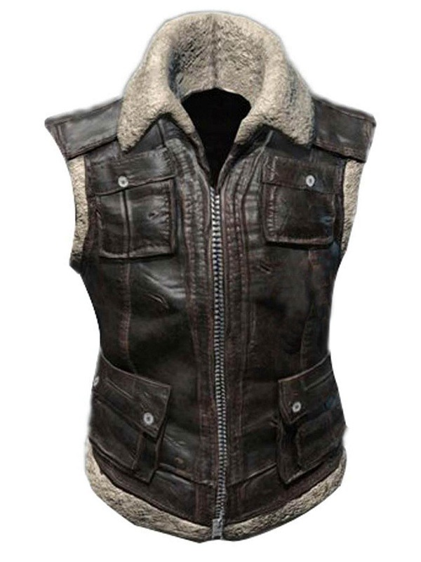 Playerunknown's Battlegrounds Fur Leather Vest,