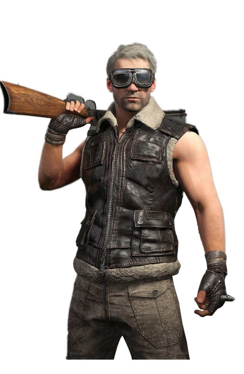 Pubg Faux Fur Leather Vest,