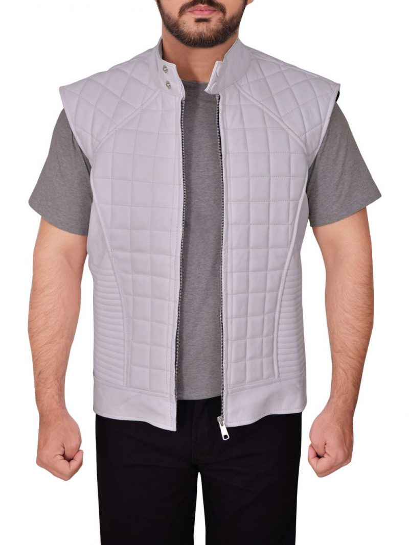Justin Bieber Quilted Style Leather Vest,
