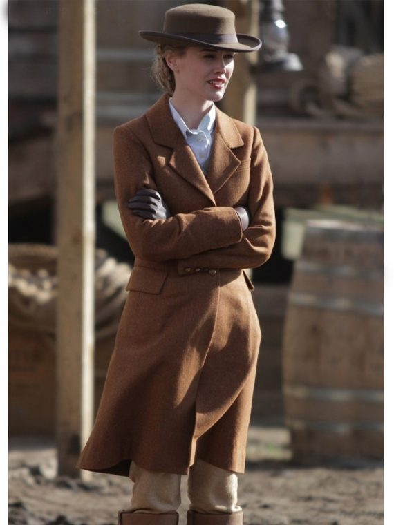 Lily Bell TV Hell On Wheels Brown Coat