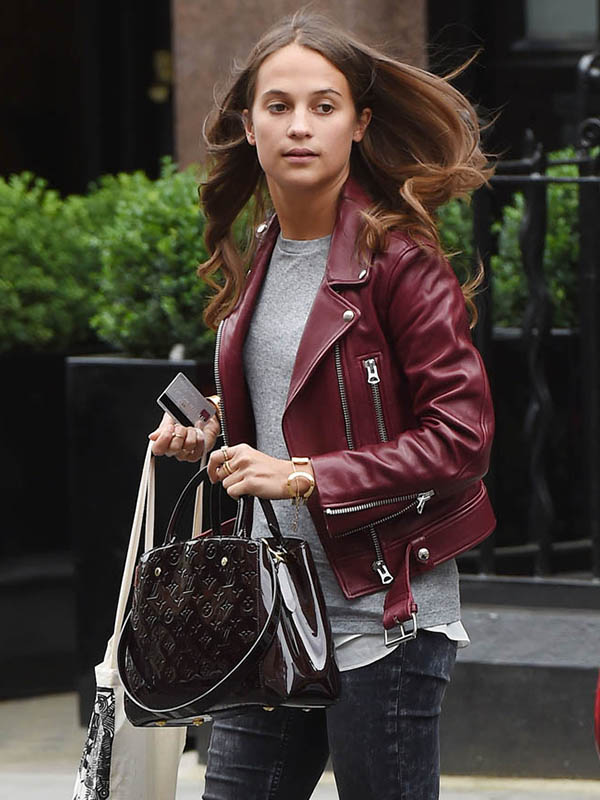 Alicia Vikander Stylish Jacket
