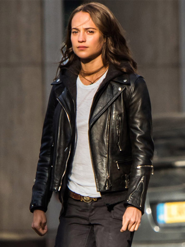 Alicia Vikander Tomb Raider Leather Jacket