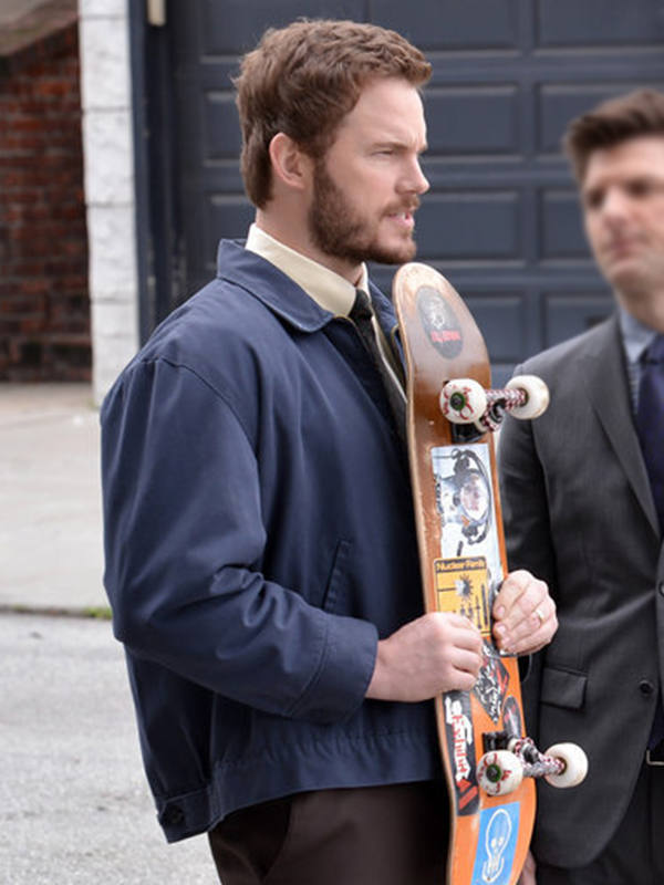 Chris-Pratt-Parks-And-Recreation-Blue-Jacket,
