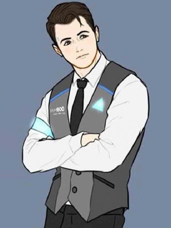 Detroit Become Human Connor Leather Vest