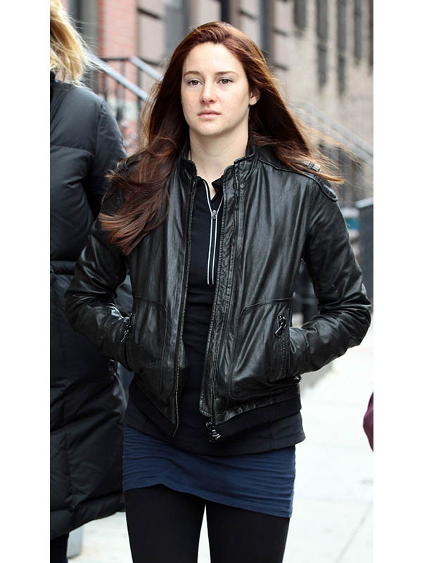 Shailene Woodley Leather Jacket