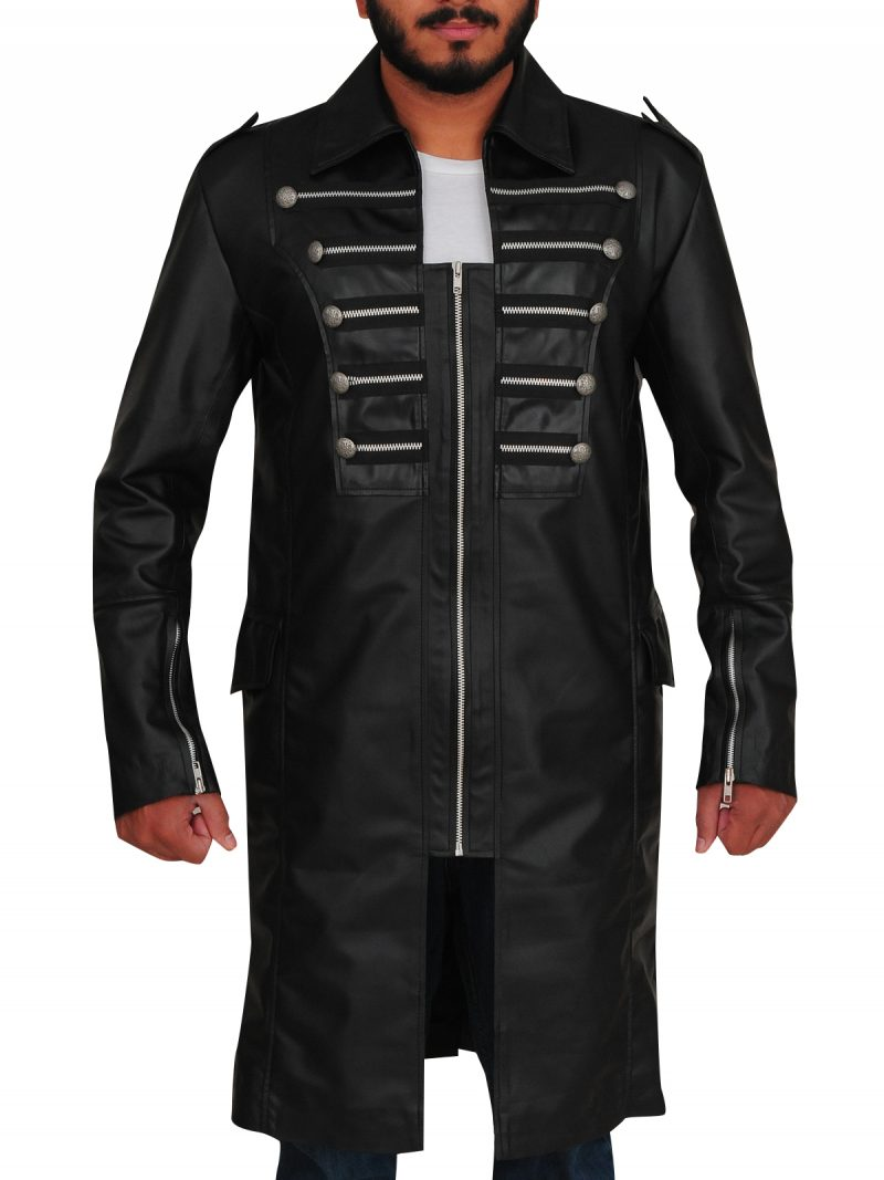 Matrix Steampunk Gothic Black Leather Coat