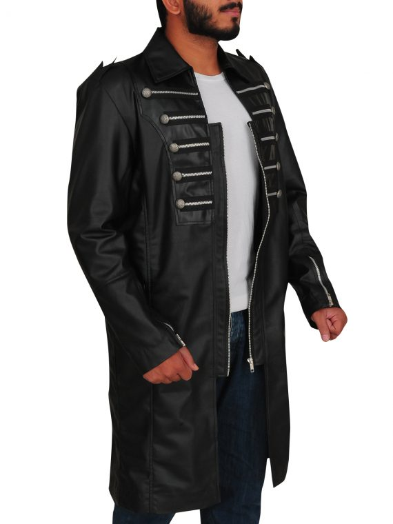 Matrix Steampunk Gothic Trench Leather Coat