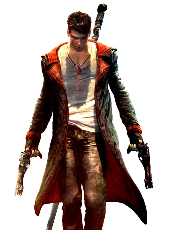 DMC IV Devil May Cry 4 Nero Cosplay Costume Leather Coat