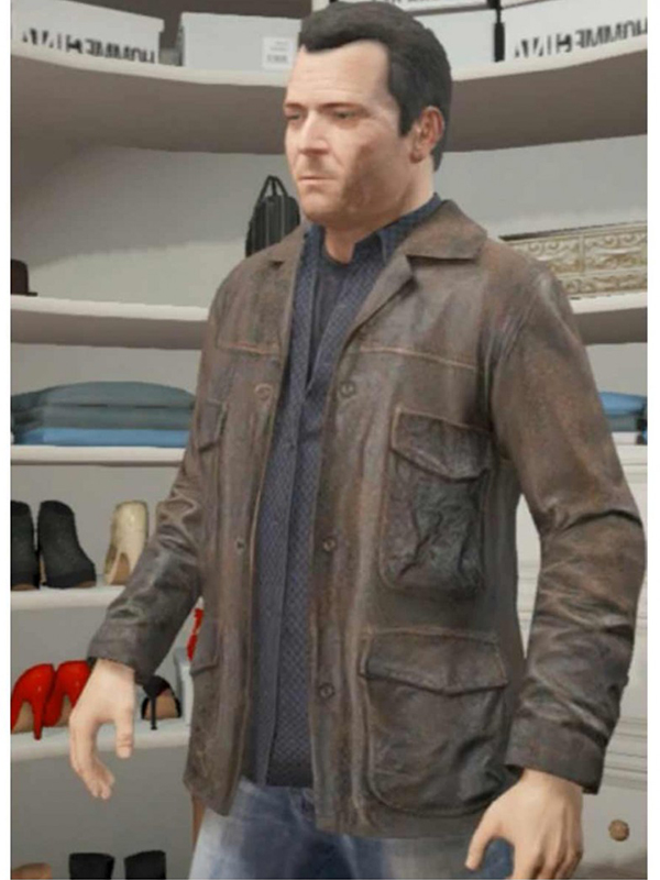 Magnificent Michael GTA 5 Leather Jacket
