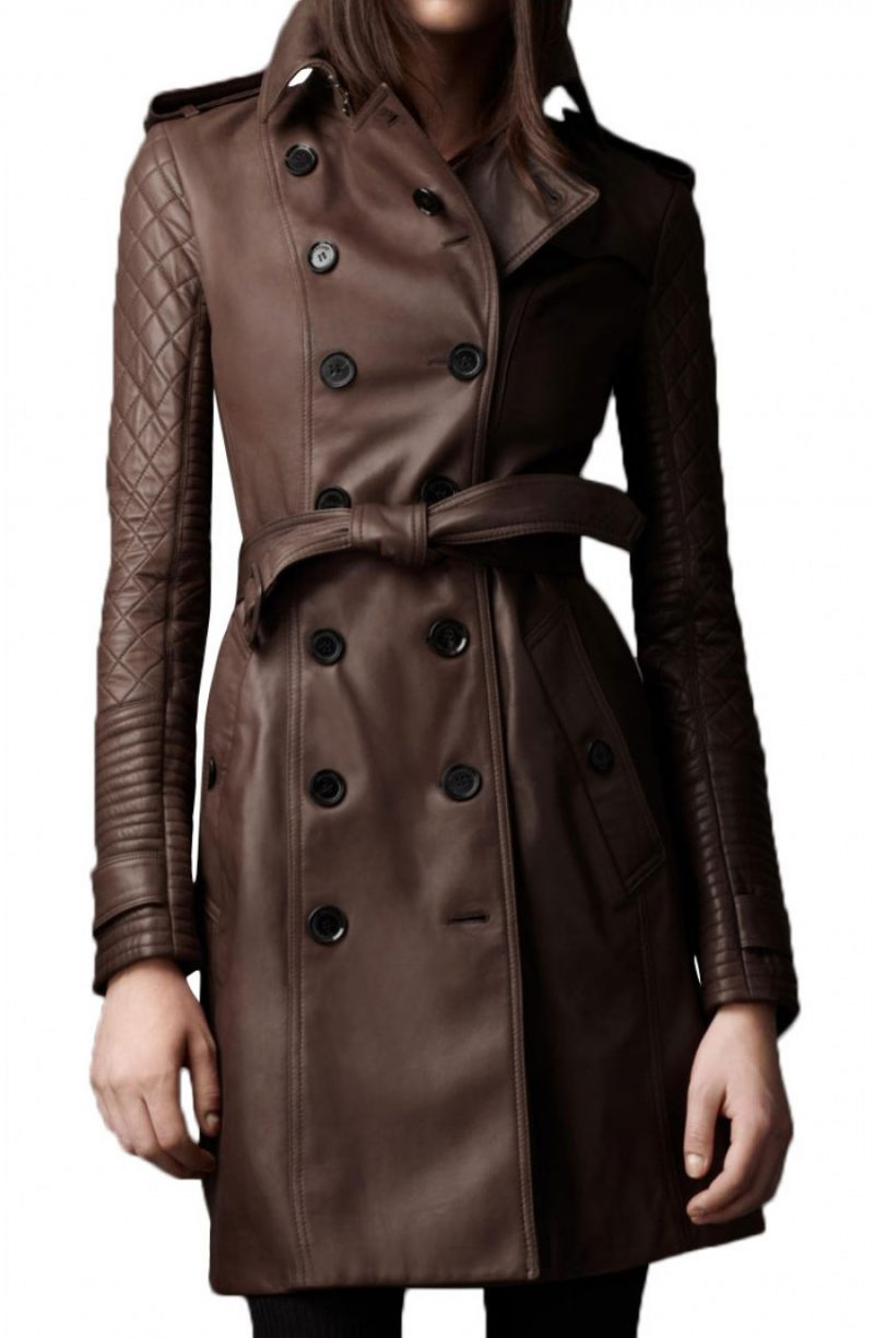 TV Series Castle Kate Beckett Leather Coat,