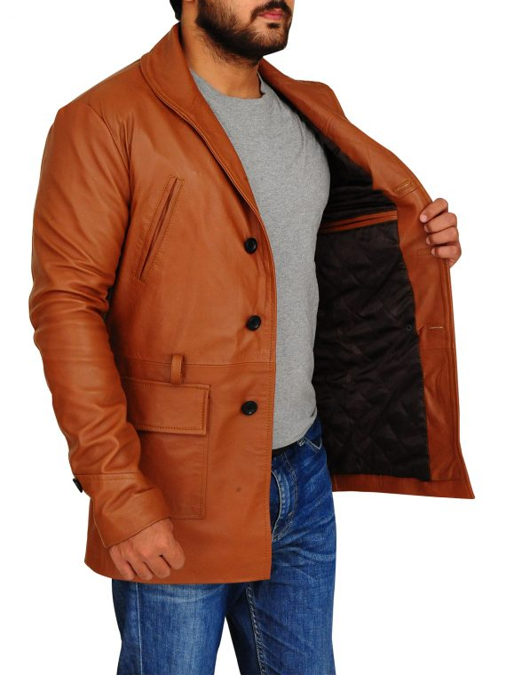 Brad Pitt Legends of the Fall Tristan Leather Brown Coat,