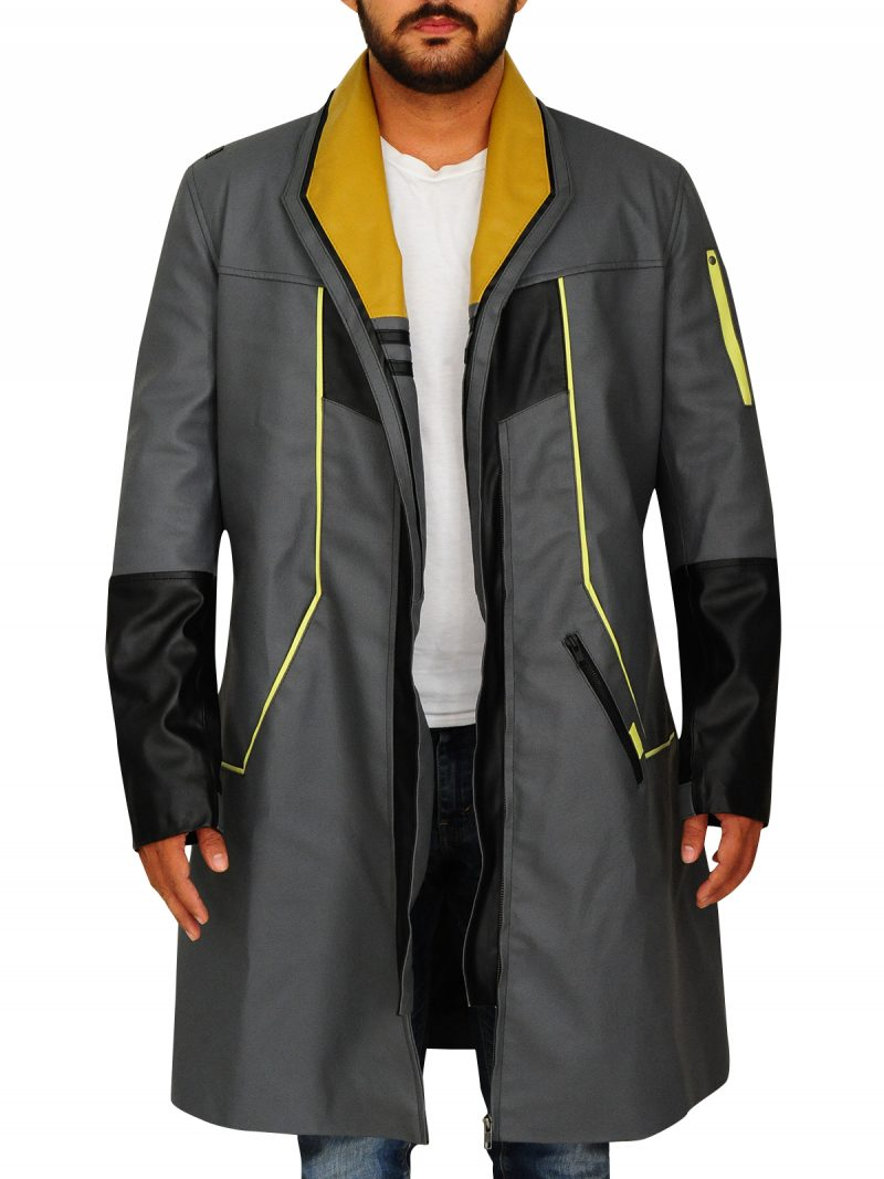 Survival Game Detroit Markus Cosplay Leather Coat