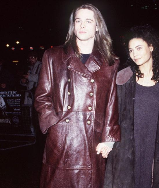 American Aactor Brad Pitt Leather Coat