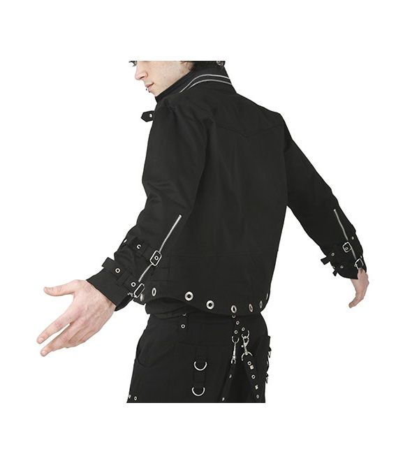 Zipper Design Gothic Dead Threads Jacket