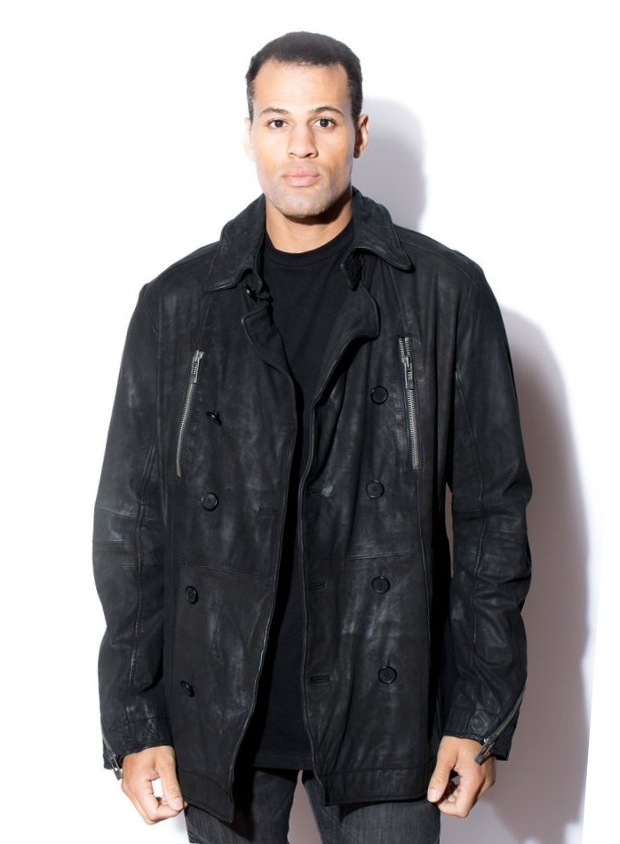 Men's Classic Lambskin Peacoat Jacket